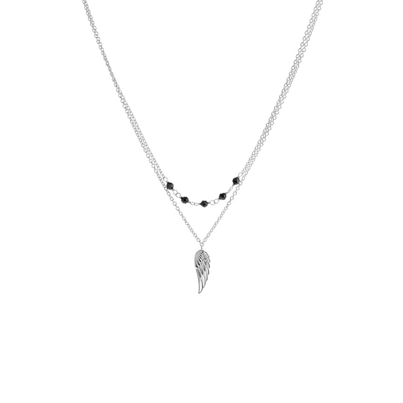 925 Sterling Silver angel wing bead necklace