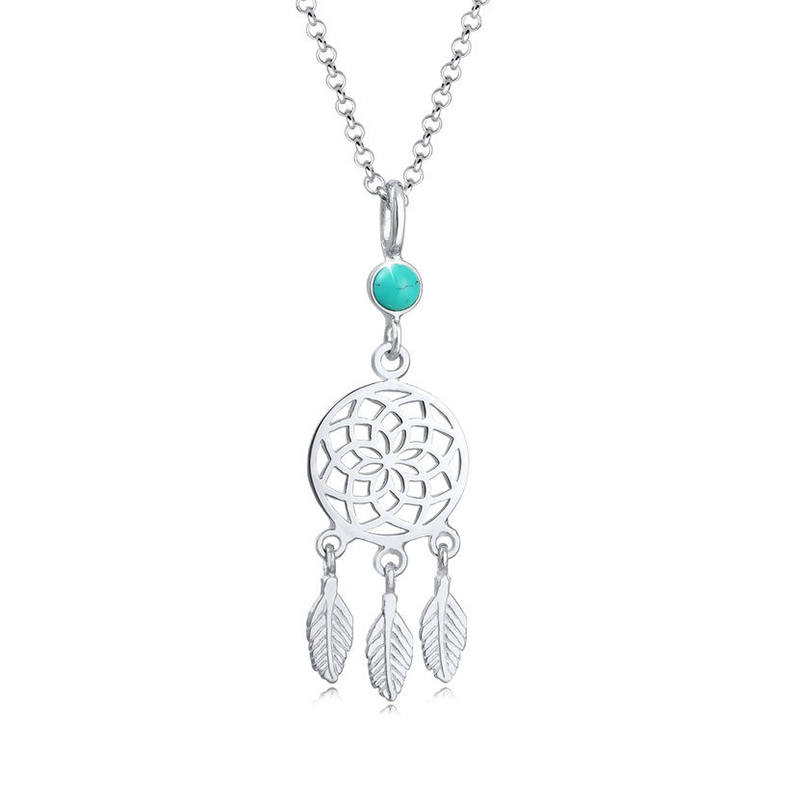 925 Sterling Silver dream catcher pendant