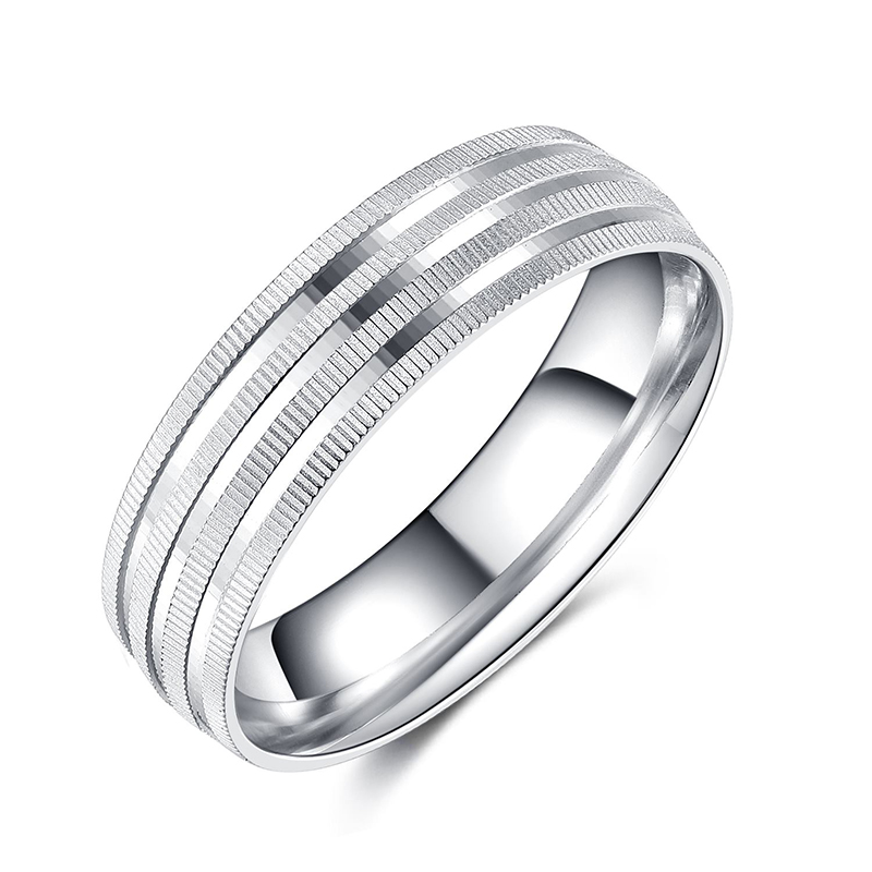 925 Sterling Silver Plain Classic Band Ring for Me...