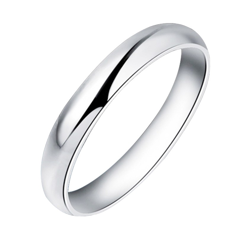 Finefey 925 Sterling Silver Classic Band Ring 5MM