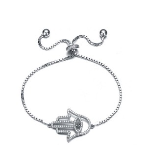 FINEFEY Sterling Silver  Hollow Palm Charm Bracele...